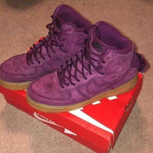 Purple Nike Air Force 1's